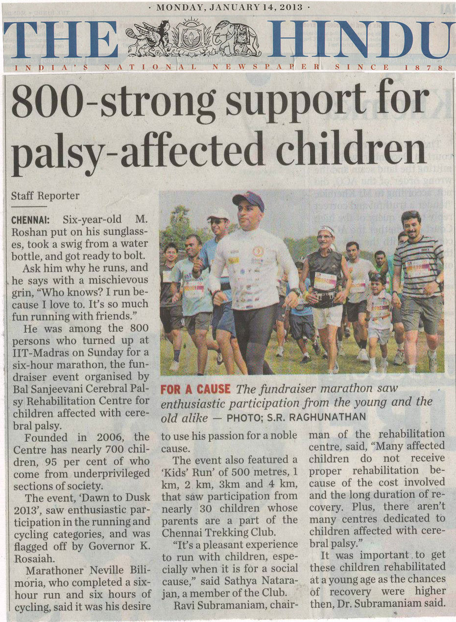 Dawn to Dusk 2013 – 800-strong support for palsy-affected